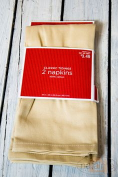 DIY no-sew pillows from napkins ( Love the concept! Totally gonna watch the Target clearance)