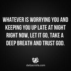 #TrustGod