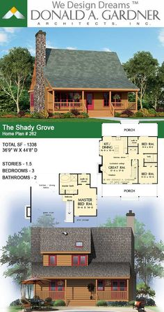 Country Style House Plans, Cottage House Plans, Dream House Plans, Cottage Homes, Unique Small House Plans, Kitchen Dining, Dining Room, Rural Retreats, Awesome House