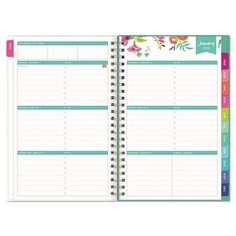 2017-2018 Day Designer Academic Planner Weekly Monthly Small - White Floral