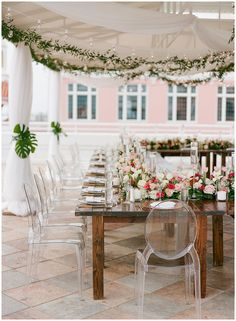 Pink and white floral garland for tropical wedding at the Don CeSar, flowers by FH Events, Planning by Tres Chic Southern Weddings Tropical Wedding Decor, White Wedding Decorations, Reception Table Decorations, Tent Decorations, Beach Wedding Locations, Beach Weddings, Destination Wedding, Flower Installation, Floral Garland