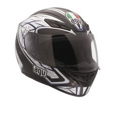 AGV K-4 Sliver - Black/Gunmetal  - Fibreglass shell  - Dynamic ventilation system and rear extractors  - Removable lining for easy cleaning and replacement