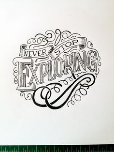 Typography Mania Abduzeedo Design Inspiration I like this because it shows what someone can do with a font change and a simple shape to make it something totally different. This is inspiration because if I have a few words and I want them to stick Handwritten Typography, Typography Quotes, Calligraphy Letters, Typography Letters, Caligraphy, Penmanship, Types Of Lettering, Brush Lettering, Block Lettering
