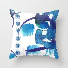 Atom Sea #9 Throw Pillow by Marina Kanavaki - $20.00