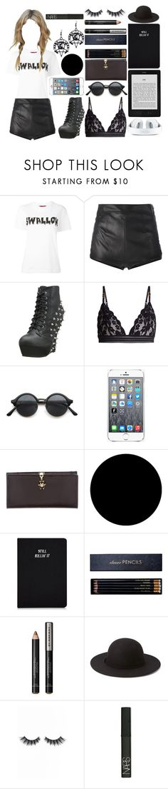 """""""""""Headache"""" by Tragedy Strikes Again"""" by gaaaaalaxy ❤ liked on Polyvore featuring McQ by Alexander McQueen, La Perla, Bettie Page, STELLA McCARTNEY, Kenzo, Gucci, Wall Pops!, Sloane Stationery, Burberry and Forever 21"""