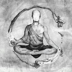ॐ Transcend Reality ॐ: Photo - Piper L. Buddha Tattoo Design, Buddha Tattoos, Zen Tattoo, Buddhism Tattoo, Hindu Tattoos, Ganesha Tattoo, Symbol Tattoos, Lotus Tattoo, Tattoo Ink