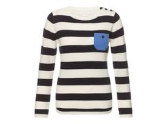 Chinti & Parker one pocket and patches stripe sweater | goop.com