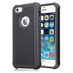 iPhone 5S Case, iPhone SE Case, SAMSOUS [impact Armor] [Purple/Black] iPhone 5 5S SE 5SE Case Shock Absorbing Hybrid Defender Rugged Cover Skin Shell Hard Plastic Outer & Rubber Silicone Inner. SAMSOUS Independence Day Gift Dual Layer Armor Rugged Apple iPhone SE/5/5S Case ,Perfectly Fit AT&T Sprint Verizon T-mobile International unlocked Cricket U.S. Cellular Straight Talk MetroPCS All Carriers. Reinforced Corner Increase Shock Absorbing when your iPhone SE/5/5S is Droping on the ground....