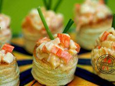 Volovanes con cangrejo y piña | Hoy comemos