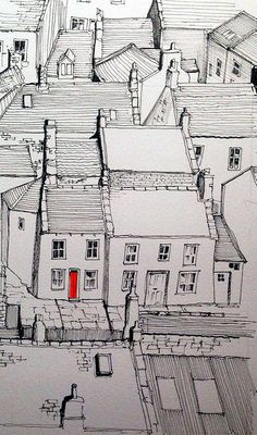 Staithes rooftops and one red door | A work in progress -I s… | Flickr