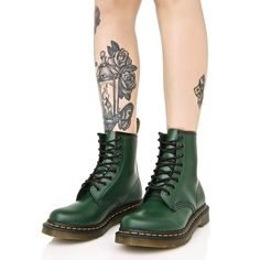Dr. Martens Forest 1460 8 Eye Boots ($125) ❤ liked on Polyvore featuring shoes, boots, army boots, laced boots, genuine leather boots, lace up boots and leather lace up boots
