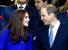 Kate Middleton and Prince William, Duke of Cambridge attend the opening ceremony ahead of the 2015 Rugby World Cup Pool A match between England and Fiji at Twickenham Stadium on September 18, 2015 in London, United Kingdom.