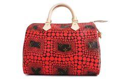 1617b61a5da26 Authentic Louis Vuitton Kusama Waves Red Town Speedy 30 Bag New