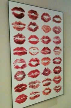 Love this! Get a lipstick stain from each of your hens, and frame them as a souvenir!