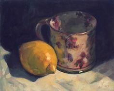 Cévennole Lemon oils study (wet into wet)  on panel.