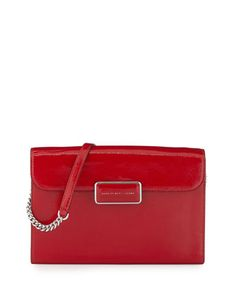 Pegg Patent Crossbody Bag, Rosey Red at CUSP.