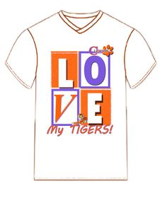 Love My Clemson Tigers Tee Shirt by dswygert on Etsy