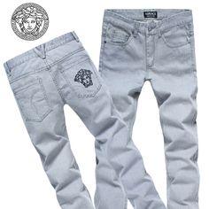 Versace long jeans for men cheap Versace Fashion, Versace Men, Versace Logo, Mens Designer Shirts, Designer Clothes For Men, Star Clothing, Mens Clothing Styles, Gucci Jeans, Men's Jeans