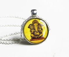 Handmade India ganesha pendnat - special gift idea