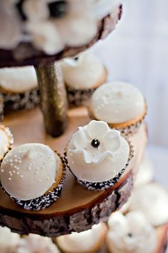 Black and white cupcakes - Photo by Christa Nicole Photography (Victoria, BC)