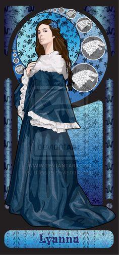 Lyanna Stark by tfilipova, via deviantart laminated these would be great tarot cards