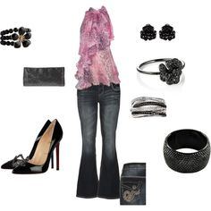 Casual Hip - I can't pull off the pink, but the overall look, I love. I would also break my neck in those heels.