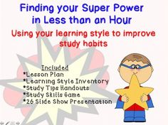 This packet is designed to provide you with everything needed to help students realize their learning style and learn some study tips specifically for them. No planning is required, the packet comes with a lesson plan, learning styles inventory, seeing, hearing and doing learner tips, and a game. This guidance lesson can be used in the classroom or for small groups.