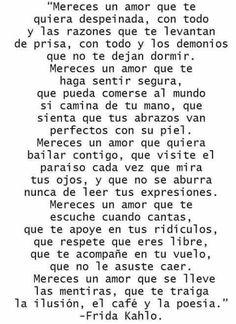Palabras de Amor y de Aliento ❤️ Frida Kahlo (28) #poemasdeamor