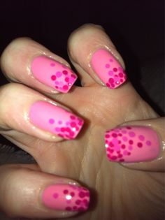pink bubble nails