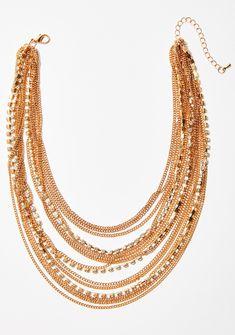 High Sass Layered Gold Necklace