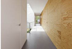 Plywood hallway