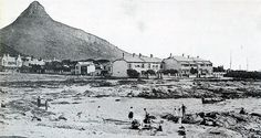 Old and New Pictures of Cape Town, Vintage and Historical Images of South Africa - Bathers at Three Anchor Bay (circa Notice the clear view of Lion's Head Table Mountain, English, Modern Landscaping, Antique Maps, Historical Pictures, African History, Vintage Photographs, Vintage Photos, Cape Town