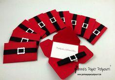 jpp - Geschenkkarten Verpackung / Geldgeschenk / Santa Gift Card Holder / Christmas / Weihnachten / Stampin' Up! Envelope Punch Board  www.janinaspaperpotpourri.de