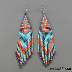 seed bead earrings #beadwork #jewelry #handmade
