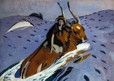 The Rape of Europa by Valentin Serov - Famous Russian Art - Handmade Oil Painting on Canvas — Canvas Paintings Russian Painting, Russian Art, Russian Culture, Art Nouveau, Ligne D Horizon, Gifts For Art Lovers, Famous Artwork, Canvas Prints, Art Prints