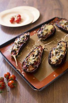 Aubergines pizza aux tomates et câpres: photo de la recette