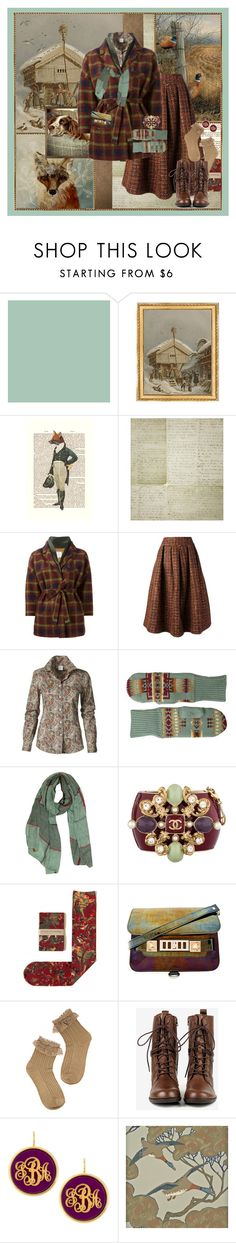 """""""Wintertide"""" by halebugg ❤ liked on Polyvore featuring Zoffany, Munn Works, WALL, Linwood, Stella Jean, Pendleton, Chanel, Strathcona, Proenza Schouler and Seychelles"""