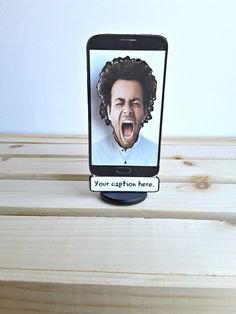 Wobble head face on a cell phone - your face or theirs with a custom message. Dont Call Me, The Cell, Gag Gifts, Things To Think About, Funny Products, Greeting Cards, Messages, Phone, Face