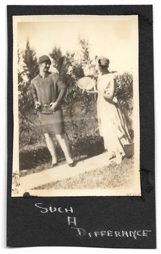 """Stylish Flappers Pose For Photo Vintage Snapshot Handwritten Caption """"Such A Difference"""" Fashionable Hats & Dresses 1920's Sepia Photo Antique Photos, Vintage Photos, Black White Photos, Black And White, Marcel Waves, Cemetery Headstones, T Strap Shoes, Mini Photo, Poses For Photos"""