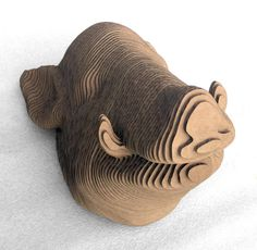 Cardboard Boars Head Small by ShortwoodCreations on Etsy