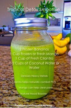 Tasty Tropical Detox Smoothie Recipe.