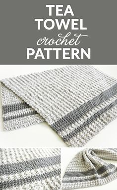 This tea towel is a classic crochet pattern and one that will stand the test of time. This is a fun crochet project with the aligned cobble stitch. # crochet projects for the home Aligned Cobble Tea Towel Crochet Pattern - Dabbles & Babbles Crochet Dish Towels, Crochet Kitchen Towels, Crochet Dishcloths, Tunisian Crochet, Crochet Granny, Crochet Puff Flower, Crochet Flower Patterns, Crochet Flowers, Lace Patterns