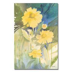 Trademark Fine Art Sheila Golden 'Sunshine Yellow' Canvas Art
