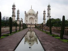 The Bibi Ka Maqbara in Aurangabad built by Azam Shah for his mother Dilras Banu Begum also known as Rabia Durrani