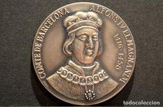 MEDALLA DE PLATA ALFONS IV EL MAGNANIM COMPTE DE BARCELONA 1984 SABADELL 915/000 CONTRASTES