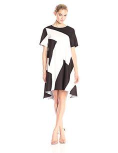 Donna Morgan Women's Short-Sleeve Geo-Print Charmeuse Dress - http://darrenblogs.com/2016/04/donna-morgan-womens-short-sleeve-geo-print-charmeuse-dress/