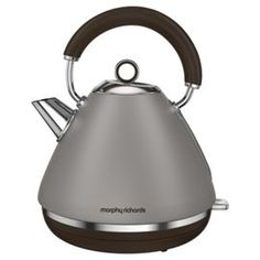 Buy Morphy Richards 102102 Accents Pyramid Kettle, 1.5 L - Pebble from our Traditional Kettles range - Tesco