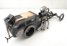 "Scrap metal dragster ""Little Honker"" by Brown Dog Welding, via Flickr"