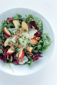 Apple, Pecorino cheese and Mixed Leaves Salad