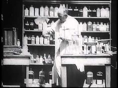 """""""Mr Edison at Work in His Chemical Laboratory"""" video from 1897"""